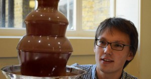 Adam Townsend and the chocolate fountain